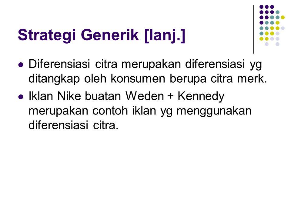 Strategi Generik [lanj.]